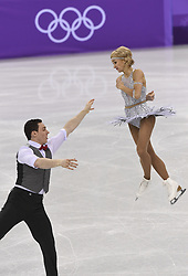 February 8, 2018 - Pyeongchang, South Korea - BRUNO MASSOT and ALJONA SAVCHENKO of Germany compete Friday, February 9, 2018, in the Pairs Short Program Team event event on opening day of the Figure Skating Team competition at the Winter Olympic Games in at the Gangneung Ice Arena in Pyeongchang, S. Korea. Photo by Mark Reis, ZUMA Press/The Gazette (Credit Image: © Mark Reis via ZUMA Wire)