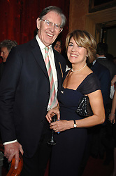 BILL & BRIDGET CASH at the engagement party of Vanessa Neumann and William Cash held at 16 Westbourne Terrace, London W2 on 15th April 2008.<br />