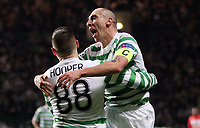 Football - 2012 / 2013 Champions League - Group G: Celtic vs. Spartak Moscow<br /> <br /> Colorsport<br /> <br /> Gary Hooper and Scott Brown celebrate Hoopers opening goal during the Champions League Group G match between  Celtic vs. Spartak Moscow at Celtic Park, Glasgow<br /> <br /> 6th December 2012