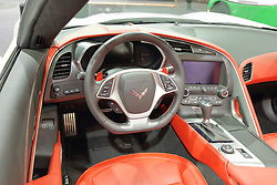 09 February 2017:  Chevrolet Corvette Stingray convertible<br /> <br /> First staged in 1901, the Chicago Auto Show is the largest auto show in North America and has been held more times than any other auto exposition on the continent.  It has been  presented by the Chicago Automobile Trade Association (CATA) since 1935.  It is held at McCormick Place, Chicago Illinois<br /> #CAS17