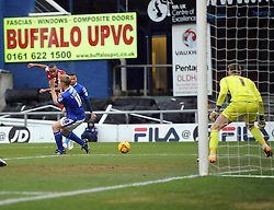 Bristol City's Tyrone Barnett shoots - Photo mandatory by-line: Joe Meredith/JMP - Tel: Mobile: 07966 386802 08/02/2014 - SPORT - FOOTBALL - Oldham - Boundary Park - Oldham Athletic v Bristol City - Sky Bet League One