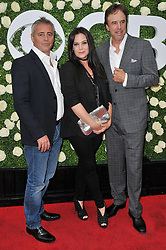 "(L-R) ""Man With A Plan"" Cast - Matt LeBlanc, Liza Snyder and Kevin Nealon together at the 2017 CBS Television Studios Summer Soiree TCA Party held at the CBS Studio Center – New York Street in Studio City, CA on Tuesday, August 1, 2017. (Photo By Sthanlee B. Mirador) *** Please Use Credit from Credit Field ***"