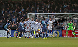 Bryn Morris of Wycombe Wanderers scores his sides winning goal from a free-kick - Mandatory by-line: Joe Dent/JMP - 03/11/2018 - FOOTBALL - Adam's Park - High Wycombe, England - Wycombe Wanderers v Peterborough United - Sky Bet League One