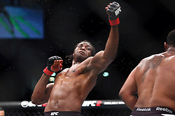 10.04.2016, Arena, Zagreb, CRO, UFC Fight Night, im Bild Francis Ngannou vs. Curtis Blaydes. // during the UFC Fight Night at the Arena in Zagreb, Croatia on 2016/04/10. EXPA Pictures © 2016, PhotoCredit: EXPA/ Pixsell/ Slavko Midzor<br /> <br /> *****ATTENTION - for AUT, SLO, SUI, SWE, ITA, FRA only*****