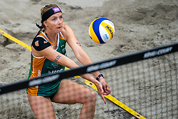 Madelein Meppelink in action during the third day of the beach volleyball event King of the Court at Jaarbeursplein on September 11, 2020 in Utrecht.