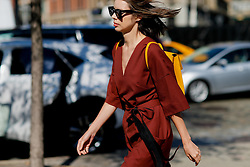 Street style, arriving at Michael Kors Spring Summer 2017 show held at Spring Studios, 50 Varick Street, in New York, USA, on September 14, 2016. Photo by Marie-Paola Bertrand-Hillion/ABACAPRESS.COM
