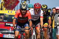 Domenico Pozzovivo (ITA - Bahrain - Merida) during the 105th Tour de France 2018, Stage 15, Millau - Carcassonne (181,5 km) on July 22th, 2018 - Photo Kei Tsuji / BettiniPhoto / ProSportsImages / DPPI