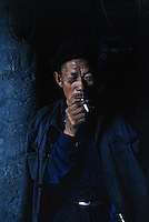 """A coalminer takes a break in a mine near Datong, China, 1993<br /> Available as Fine Art Print in the following sizes:<br /> 08""""x12""""US$   100.00<br /> 10""""x15""""US$ 150.00<br /> 12""""x18""""US$ 200.00<br /> 16""""x24""""US$ 300.00<br /> 20""""x30""""US$ 500.00"""