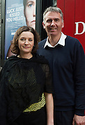"""Bernadette Mullarkey and Gabe Mullarkey at the World Premiere of the """"Luck Just Kissed you Hello""""by Amy Conroy in the Mick Lally theatre (Druid) on the opening night of Galway international Arts Festival. Photo:andrew Downes xposure"""