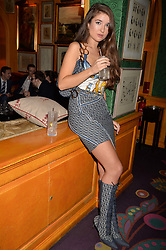 Christelle McCracken at the Annabel's Bright Young Things Party at Annabel's, Berkeley SquareLondon England. 8 June 2017.<br /> Photo by Dominic O'Neill/SilverHub 0203 174 1069 sales@silverhubmedia.com