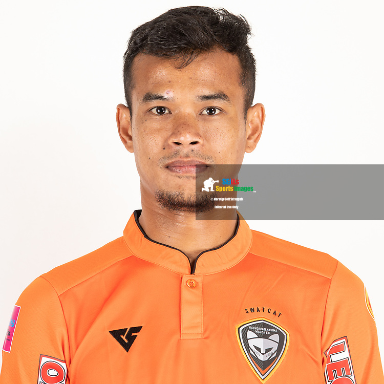 THAILAND - JUNE 25: Akekanat Kongket #5 of Nakhonratchasrima Mazda FC on June 25, 2019.<br /> .<br /> .<br /> .<br /> (Photo by: Naratip Golf Srisupab/SEALs Sports Images/MB Media Solutions)