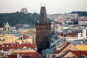 """View to the """"Powder Tower"""" located on Namesti Republiky."""