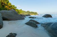 Beach in Seychelles Waves Crashing