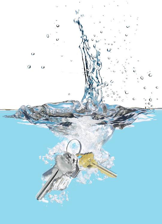 Keys dropped in water