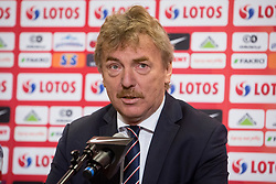 July 23, 2018 - Warsaw, Mazowsze, Poland - President of the Polish Football Association Zbigniew Boniek during a press conference at National Stadium in Warsaw, Poland on 23 July 2018. Jerzy Brzeczek, a former captain of Poland's national team, has been chosen as the team's new coach after Adam Nawalka's contract was not extended following Poland's World Cup exit. (Credit Image: © Mateusz Wlodarczyk/NurPhoto via ZUMA Press)