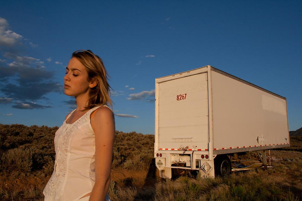 Self portrait taken in Ranchos De Taos, May 2011.