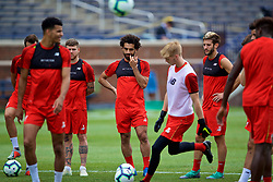 ANN ARBOR, USA - Friday, July 27, 2018: Liverpool's Mohamed Salah during a training session ahead of the preseason International Champions Cup match between Manchester United FC and Liverpool FC at the Michigan Stadium. (Pic by David Rawcliffe/Propaganda)