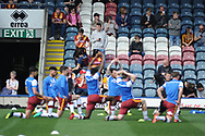 Bradford city warm up in front of traveling fans during the EFL Sky Bet League 1 match between Rochdale and Bradford City at Spotland, Rochdale, England on 21 April 2018. Picture by Mark Pollitt.