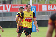 Picture by Laurent Selles/Catalans Dragons/via SWpix.com - 10/07/2020 Rugby League Betfred Super League 2020<br /> Back in training. Catalans Dragons Joel Tomkins back in training today at Stade Gilbert Brutus, Perpignan - France after the long lay off due to Coronavirus Covid 19 Pandemic
