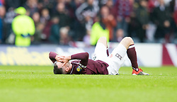 Heart of Midlothian's Michael Smith reacts after the William Hill Scottish Cup Final at Hampden Park, Glasgow.