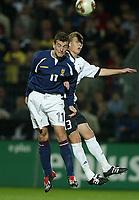Fotball<br /> U21-landskamp Tyskland v Skottland<br /> Foto: Uwe Speck, Digitalsport<br /> Norway Only<br /> <br /> v.l. Simon  LYNCH - Stephan KLING