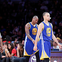 11 April 2014: Golden State Warriors guard Stephen Curry (30) is seen during the Golden State Warriors 112-95 victory over the Los Angeles Lakers at the Staples Center, Los Angeles, California, USA.