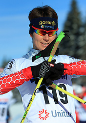 Slovenian cross-country skiers Mirjam Soklic at 10th OPA - Continental Cup 2008-2009, on January 17, 2009, in Rogla, Slovenia.  (Photo by Vid Ponikvar / Sportida)