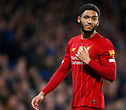 Liverpool's Joe Gomez during the English FA Cup fifth round soccer match between Chelsea and Liverpool at Stanford Bridge Stadium, Wednesday, March 3, 2020, in London, United Kingdom. (ESPA-Images/Image of Sport)