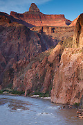 Colorado River from the Bright Angel Trail at the bottom of Grand Canyon National Park, Arizona.