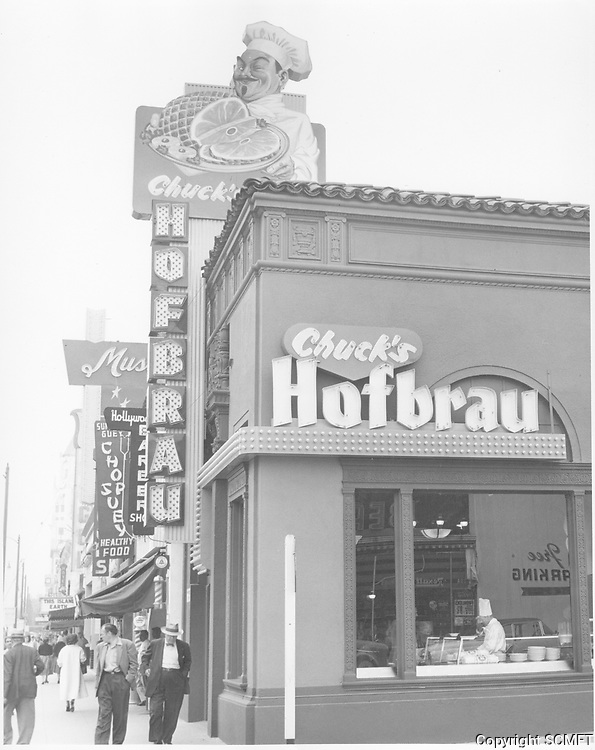 1955 Chuck's Hofbrau Restaurant on Hollywood Blvd.