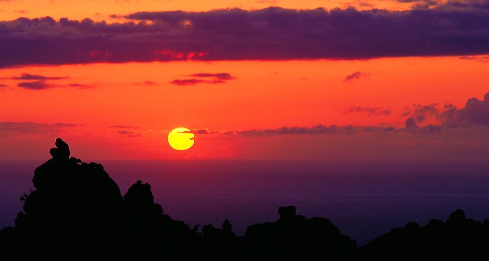 Sunset on Lanai, HI