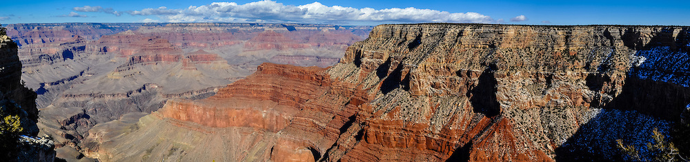 United States, Arizona, Grand Canyon. Pima Point, one of the best places on the West south rim to see the canyon. Panorama view.