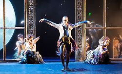 Matthew Bourne's Sleeping Beauty<br /> a gothic fairytale<br /> at Sdlers Wells, London, Great Britain <br /> 7th December 2012 <br /> <br /> Act I<br /> The Fairies visit Baby Aurora<br /> Christopher Marney as Count Lilax<br /> Mari Kamata as Ardor<br /> Kate Lyons as Hibernia<br /> Joe Walking as Autumnus<br /> Sophia Hurdley as Feral<br /> Liam Mower as Tantrum <br />  <br />   Act III<br /> Aurora/Caradoc bedroom scene duet<br /> <br /> Ben Bunce as Caradoc<br /> Hannah Vassallo as Aurora <br />  <br /> <br /> <br /> Photograph by Elliott Franks