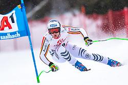 14.02.2020, Zwölferkogel, Saalbach Hinterglemm, AUT, FIS Weltcup Ski Alpin, Super G, Herren, im Bild Thomas Dressen (GER) // Thomas Dressen of Germany in action during his run for the men's SuperG of FIS Ski Alpine World Cup at the Zwölferkogel in Saalbach Hinterglemm, Austria on 2020/02/14. EXPA Pictures © 2020, PhotoCredit: EXPA/ Johann Groder