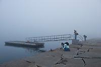 Sam Abell Workshop - Sunrise at Breakwater Light Rockland, ME.  ©Karen Bobotas Photographer