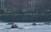 Mortlake/Chiswick, GREATER LONDON. United Kingdom. General View as crews approach the Mortlake Brewery, competing in the 2017 Vesta Veterans Head of the River Race, The Championship Course, Putney to Mortlake on the River Thames.<br /> <br /> <br /> Sunday  26/03/2017<br /> <br /> [Mandatory Credit; Peter SPURRIER/Intersport Images]