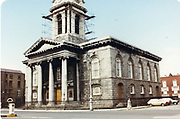 Old amateur photos of Dublin streets churches, cars, lanes, roads, shops schools, hospitals Custom House, Gate Theather, Protestant Church, Temple St Hospital, St Georges Church, Abbey St, GPO July 1986 July 1986