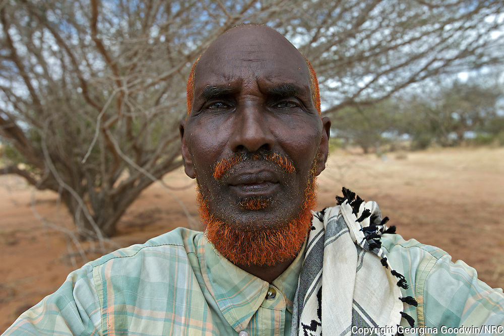 Yussuf Mohamed Kheiu, 72  from Bakool in Somalia, arrived in Ifo, Dadaab's oldest camp in July 2011. Portraits taken by the Norwegian Refugee Council of refugees interviewed in Dadaab for research on drought and climate change. Portraits taken by the Norwegian Refugee Council of refugees interviewed in Dadaab for research on drought and climate change. Dadaab is the world's largest refugee camp with 464,000 registered refugees, 115,000 of which arrived in 2011 from southern Somalia due to conflict and drought. 28 May 2012.