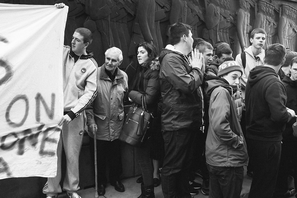 Liverpool, UK, 17th April, 2013. People of all ages celebrate the death of Margaret Thatcher.