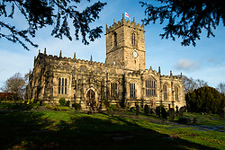 St Marys Church Ecclesfield lit by the the early afternoon winter sun <br /> <br />  30 December 2018<br />  Copyright Paul David Drabble<br />  www.pauldaviddrabble.co.uk