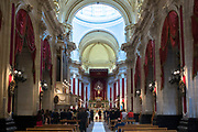 Wedding ceremony taking place inside Cathedral of San Giorgio in Ragusa Ibla, Sicily