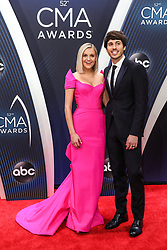 52nd Annual Country Music Association Awards hosted by Carrie Underwood and Brad Paisley and held at the Bridgestone Arena on November 14, 2018, in Nashville, TN. © Curtis Hilbun / AFF-USA.com. 14 Nov 2018 Pictured: Kelsea Ballerini and Morgan Evans. Photo credit: Curtis Hilbun / AFF-USA.com / MEGA TheMegaAgency.com +1 888 505 6342