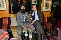 Left to right, WARIS AHLUWALIA and PATRICK GRANT at a Thanksgiving dinner hosted by Alexander Gilkes of Paddle8 at Annabel's, 44 Berkeley Square, London on 23rd November 2016.