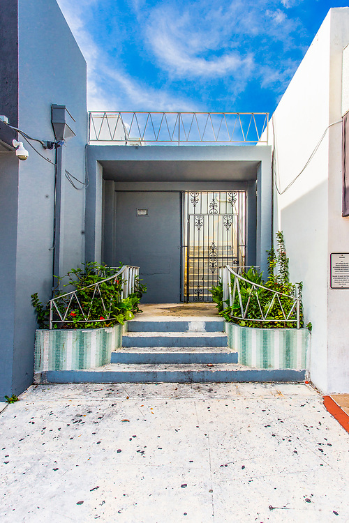 A Miami Modern door treatment in Bay Harbor Islands