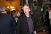 IAN MCEWAN, Opening of David Hockney ' A Bigger Picture' Royal Academy. Piccadilly. London. 17 January 2012