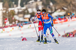 28.02.2019, Seefeld, AUT, FIS Weltmeisterschaften Ski Nordisch, Seefeld 2019, Nordische Kombination, Langlauf, im Bild Samuel Costa (ITA) // Go Yamamoto of Japan during the Cross Country Competition of Nordic Combined for the FIS Nordic Ski World Championships 2019. Seefeld, Austria on 2019/02/28. EXPA Pictures © 2019, PhotoCredit: EXPA/ Stefan Adelsberger
