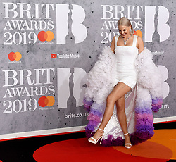 February 21, 2019 - London, London, United Kingdom - Image licensed to i-Images Picture Agency. 20/02/2019. London, United Kingdom. Anne-Marie arrives at the Brit Awards in London. (Credit Image: © i-Images via ZUMA Press)