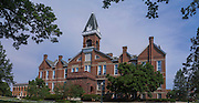 """Drake University's """"Old Main"""" proudly stands on campus at the corner of 25th and University, Des Moines, Iowa."""