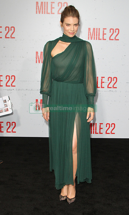 Mille 22 Premiere at The Regency Village Theatre in Westwood, California on 8/9/18. 09 Aug 2018 Pictured: Lauren Cohan. Photo credit: River / MEGA TheMegaAgency.com +1 888 505 6342