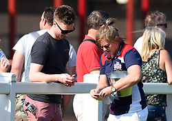 Marlie Packer sells raffle tickets in support of Bristol Ladies - Mandatory by-line: Paul Knight/JMP - 09/04/2017 - RUGBY - Cleve RFC - Bristol, England - Bristol Ladies v Saracens Women - RFU Women's Premiership Play-off Semi-Final